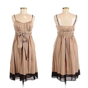 BANANA REPUBLIC. Midi. Silk. NWT. Champagne. Dress